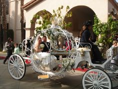 Wedding Horse and Carriage Rentals CA Wedding Carriage, Horse Wedding, Cinderella Carriage, Cinderella Wedding, Pink Dress, Wedding Planner, Entrance, Asian, Weddings