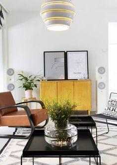 Industrial Scandinavian, Scandinavian Home, Alvar Aalto, Living Styles, Elle Decor, Home Living Room, Midcentury Modern, Indoor, Interior Design
