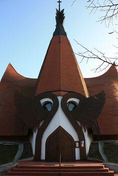 Lutheran Church in Siófok- Balaton, Hungary   Makovecz Imre