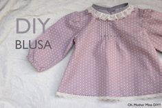 DIY Costura ropa bebe blusa niña (patron gratis incluido)