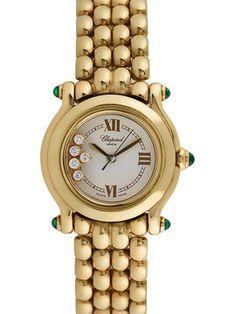 Chopard Happy Sport Yellow Gold & Diamond Watch, 37mm from Nighttime Elegance Feat. Bulgari Watches on Gilt