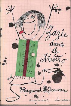 raymond queneau - zazie dans le metro (livre de poche book cover, by siné)