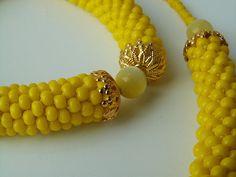 Lemon Bead Crochet Rope Set by helen_likes_racing, via Flickr