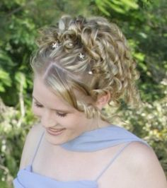 School formal / prom hair style and makeup.