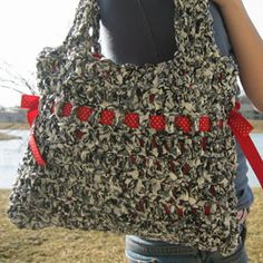 crochet plastic purse