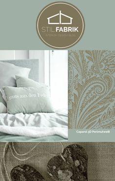 Farb Stilkonzept Rasch Textil Vision 022859 Grn Grau Gold Silber Ornament