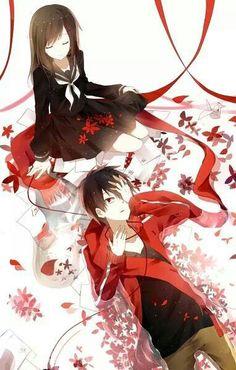 Ayano and Shintaro    _Mekakucity Actors