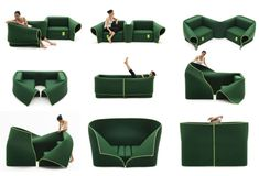 **Contemporary convertible sofa by Emauele Magini