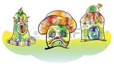 Une illustration de la maison de fantaisie champignon: Tree Fantasy house. Cute little house. Fairy little magic play house. Vector illustration simulates watercolor paint Illustration