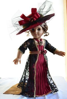 """Titanic Downton Abbey Edwardian Gown Outfit for 18"""" American Girl"""