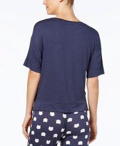 Jenni by Jennifer Moore Graphic Pajama T-Shirt, Created for Macy's - Black XXL