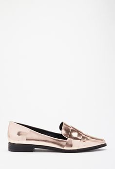 Faux Leather Pointed Loafers via @stylelist | http://aol.it/1zvstS6