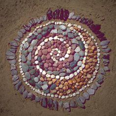 stone spiral mandala