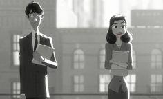 Paper Man, o curta da Disney indicado ao Oscar. Uma história de amor em preto e branco!