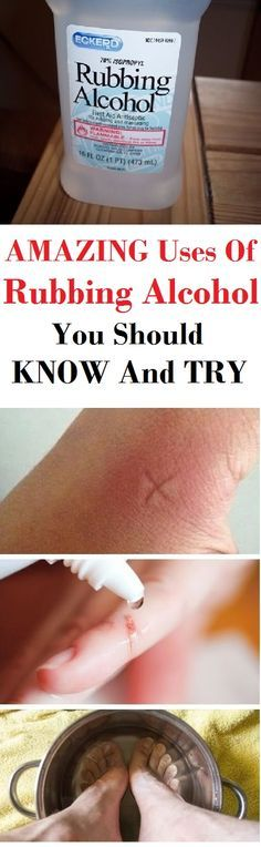 Great uses of rubbing alcohol we should know. Very useful!