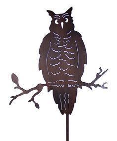 Exhart Bronze Owl Garden Stake