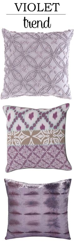 Accent color for master bedroom?Violet Trend in Chenille, Patchwork, and Valvet Tie Dye Fabrics! Accent Pillows, Throw Pillows, Linen Comforter, Textured Yarn, Purple Stuff, Apartment Plans, French Knots, Dorm Ideas, Pillow Talk