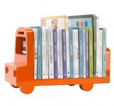bus orange bookshelf $124