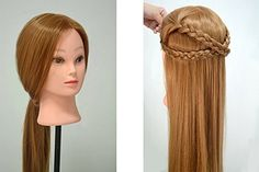 Competent Color Training Mannequin Head Female Hair Head Doll 22 Inches Mannequin Doll Head Hairdressing Training Heads Styling Tools & Accessories