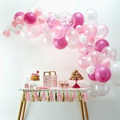 This Ginger Ray Pink Balloon Arch Kit includes balloon tape, glue dots, and pink and white balloons that come in different sizes and designs. Use this balloon arch kit to decorate for a baby shower, an Easter party, or any other occasion! White Balloons, Confetti Balloons, Balloon Garland, Latex Balloons, Balloon Display, Party City Balloon Arch, Balloon Ideas, Balloon Wall, Hawaiian Party Decorations