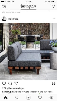 Outdoor Couch, Outdoor Decor, Outdoor Furniture Sets, Relax, Architecture, Garden, Instagram Posts, Home Decor, Sun