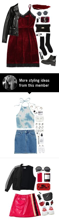 """Velours"" by mode-222 on Polyvore featuring River Island, Jeffrey Campbell, Yves Saint Laurent, Sony, Jaeger-LeCoultre and Surratt"