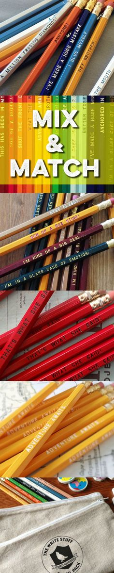 Pencils never go out of style! Especially when they are inspirational or funny!