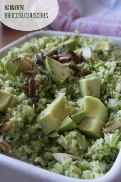 Grøn broccolicouscous - propfuld af vitaminer og fibre!
