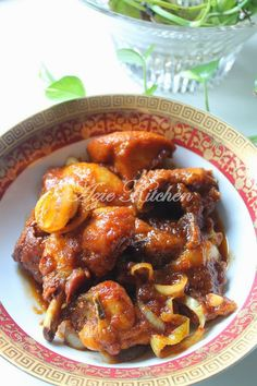 Azie Kitchen: Ayam Masak Sambal Chicken Lunch Recipes, Tofu Recipes, Spicy Recipes, Asian Recipes, Cooking Recipes, Duck Recipes, Easy Recipes, Malaysian Cuisine, Malaysian Food