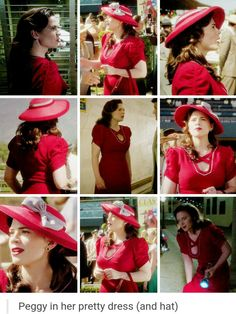 Peggy's red dress and hat