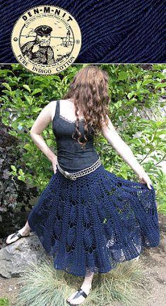 crochet pineapple skirt pattern via 20 Popular Free #Crochet Skirt Patterns for Women