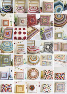 Crochet cusions to date | Emma Lamb | by emma lamb : living in colour