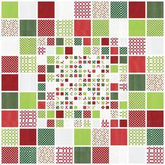 "Mosaic lap quilt, 54 x 54"", designer pattern by Liz Havartine.  Robert Kaufman Fabrics."