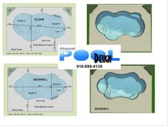 Fiberglass shapes and sizes decorating ideas pinterest for Pool design templates