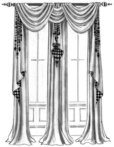 Curtains Living Room, Drapery Designs, Windows, Arched Window Coverings, Window Decor, Bedroom Window Dressing, Curtains, Curtain Decor, Bedroom Windows