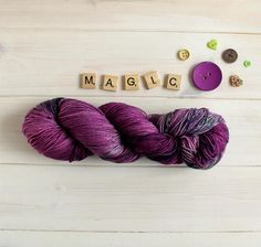 Practical Magic themed yarn Halloween yarn hand dyed sock