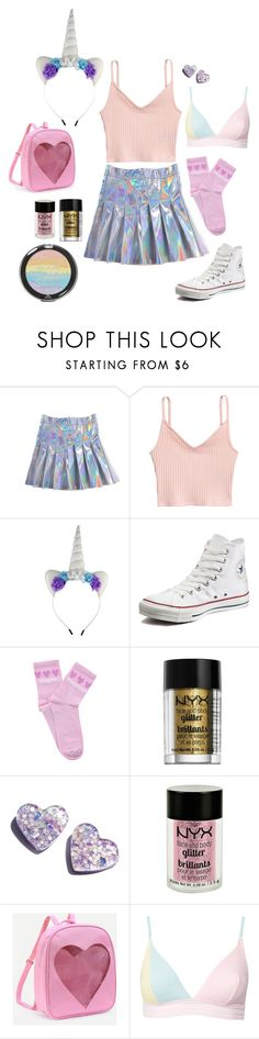 """halloween costume"" by mckiwi on Polyvore featuring Wet n Wild, Converse, Yeah Bunny, NYX, Charlotte Russe and Topshop"