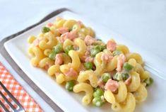 Pâtes aux petits pois, saumon et boursin WW, recette d'un bon plat complet facile et simple à réaliser pour un repas léger.