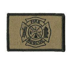 """High quality 2"""" x 3"""" Fire & Rescue embroidered Velcro backed patch. These…"""