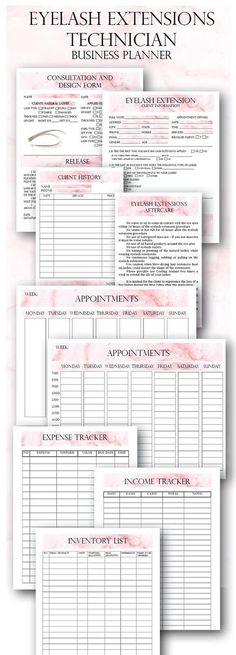 Esthetician Business Planner, Skin Care Consultation, Facials Clinet - client information sheet template