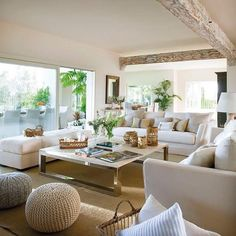 I love white and neutral in the lounge