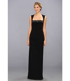 Polished gown from Nicole Miller. #fashion #coveted #zappos