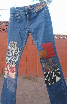 Bohemian Patched Jeans for the Holiday Season by PatchedPlanet, $69.00