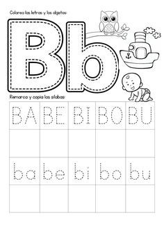 Mi Cuadernillo de Sílabas - Imagenes Educativas Free Kindergarten Worksheets, Science Worksheets, Preschool Learning Activities, Alphabet Worksheets, Teaching Kids, Spanish Lessons For Kids, Learning Spanish, Diy Busy Books, 2 Kind