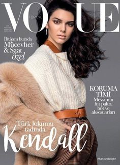 Top model Kendall Jenner lands the November 2016 cover of Vogue Turkey. Photographed by Russell James, Kendall channels style with her hair in voluminous… Kylie Jenner, Kendall Jenner Outfits, Kendall Jenner Runway, Kendall Jenner Modeling, Fashion Weeks, Kardashian, Vintage Vogue Covers, Magazin Covers, Magazin Design