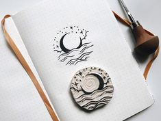 fabric stamping Hand carved rubber stamp with serene moon landscape design, not mountedStamp size: diameter 6 cm, thickness 1 cmCarved by hand from quality cream rubberCan be used on p Stamp Printing, Printing On Fabric, Screen Printing, Design Mignon, Japanese Stamp, Fabric Stamping, Rubber Stamping, Stamp Carving, Seal Design