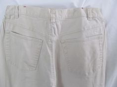 Maternity Tan Pants Size  Mother to be Clothes Maternity Jeans Beige Sz M Beige stretch Jeans