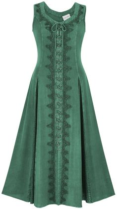 HolyClothing brand Trinity dress - lace up front, lace adjusted waist in back, gorgeously detailed inset panels. Celtic Costume, Renaissance Costume, Celtic Clothing, Celtic Dress, Pretty Outfits, Cute Outfits, Looks Style, Historical Clothing, Costume Design