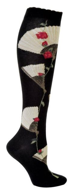 Womens Eventail Knee High Sock - Black