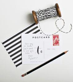 Graphic Stripe Postcards – Set of 5
